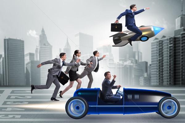 Concurrence gens d'affaires affaires courir vitesse Photo stock © Elnur