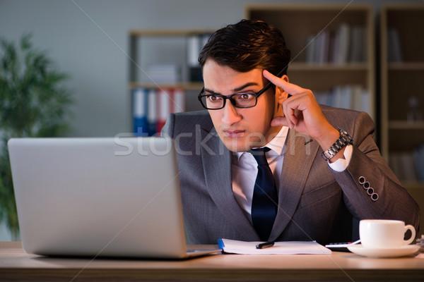 бизнесмен служба долго человека печально смешные Сток-фото © Elnur