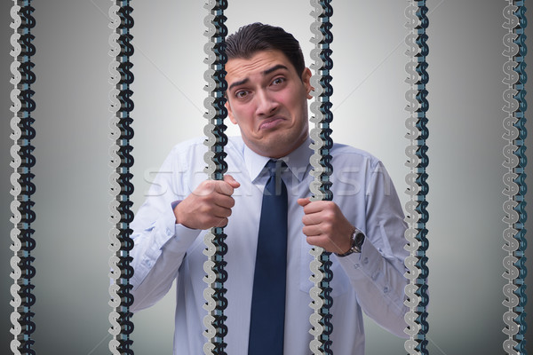 Man trapped in prison with dollars Stock photo © Elnur