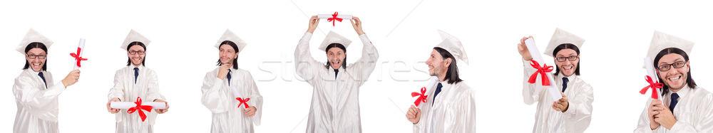 Young man ready for university graduation Stock photo © Elnur