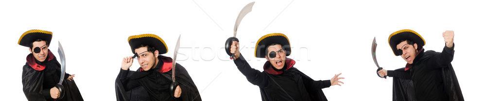Een piraat zwaard geïsoleerd witte oog Stockfoto © Elnur