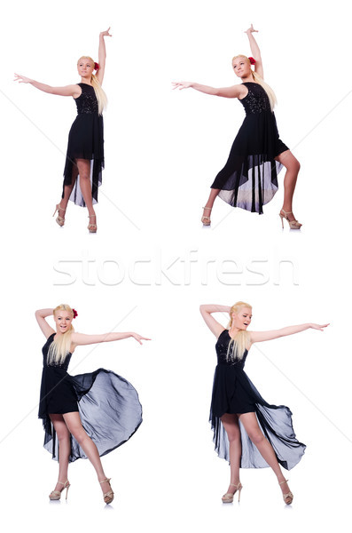 Woman dancing isolated on the white Stock photo © Elnur