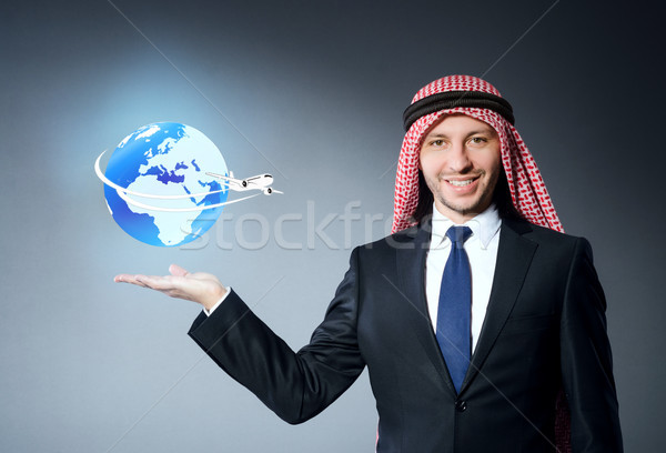 Arab man in air travel concept Stock photo © Elnur