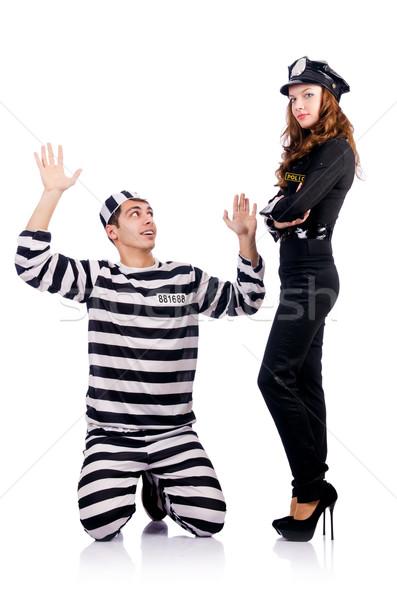 Rendőrség börtön bennlakó fehér férfi törvény Stock fotó © Elnur
