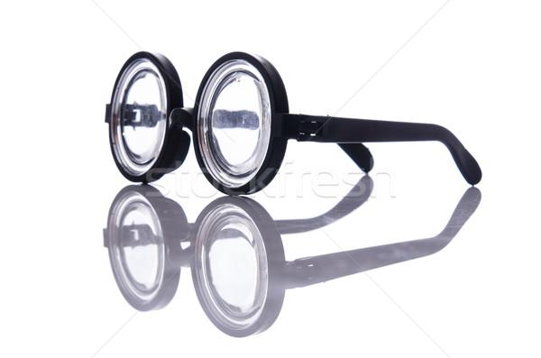 Divertente nerd occhiali isolato bianco vetro Foto d'archivio © Elnur