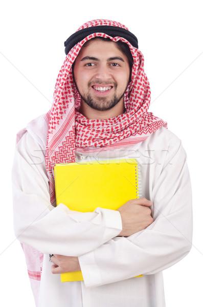 Youn arab student isolated on white Stock photo © Elnur