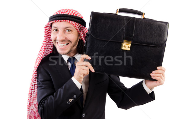 Stock photo: Arab man isolated on the white