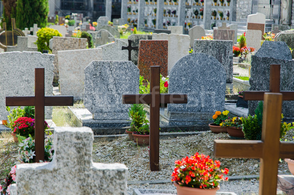 Stock photo: Small cemetery in Italy on summer day