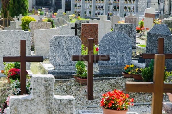 Kicsi temető Olaszország nyár nap férfi Stock fotó © Elnur