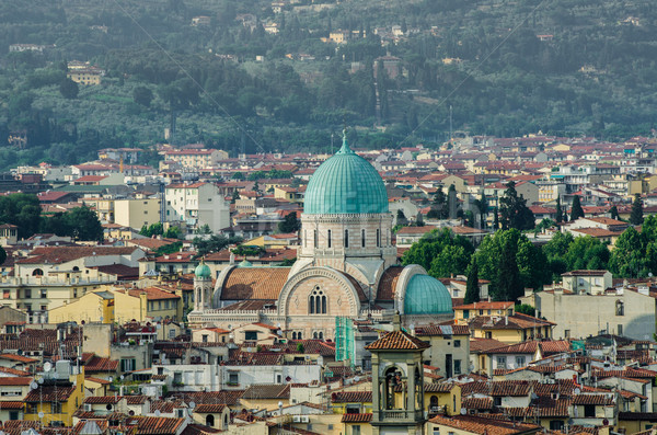 Jewish Synagogue of Florence from top Stock photo © Elnur