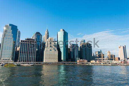 Panorama şehir merkezinde Manhattan iş ofis elma Stok fotoğraf © Elnur