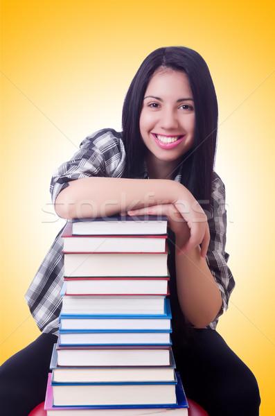девушки студент книгах белый книга школы Сток-фото © Elnur