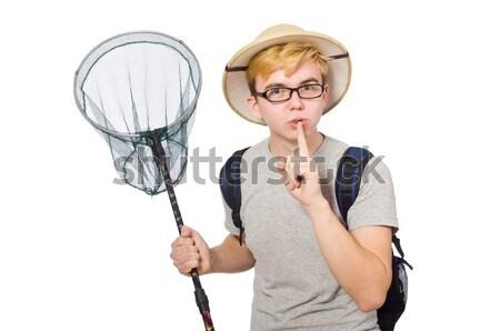 Hombre safari sombrero caza fondo Screen Foto stock © Elnur