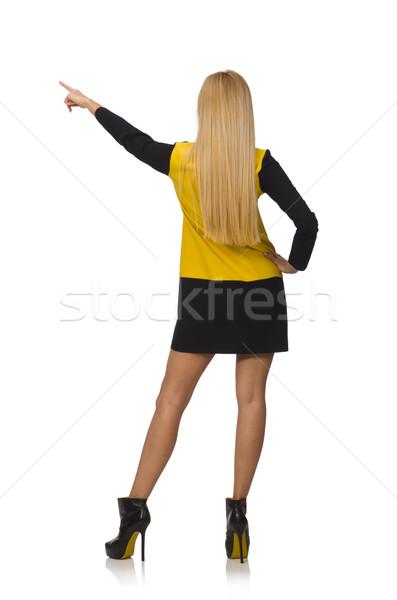 волос девушки желтый черный одежду Сток-фото © Elnur