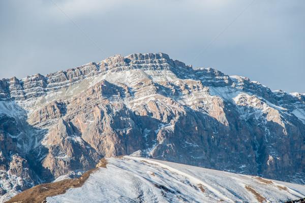 Montanhas inverno Azerbaijão céu paisagem neve Foto stock © Elnur