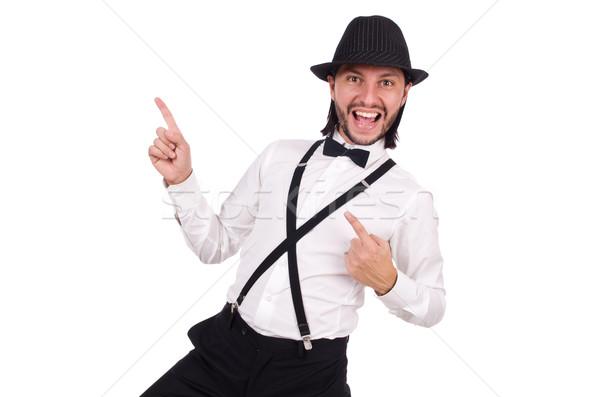 Jovem cavalheiro seis isolado branco fundo Foto stock © Elnur