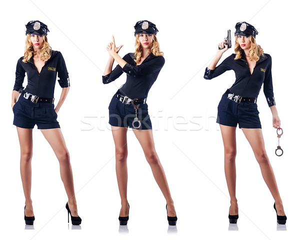 Woman police officer isolated on white Stock photo © Elnur