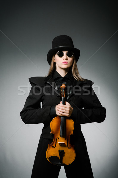 Woman playing classical violin in music concept Stock photo © Elnur