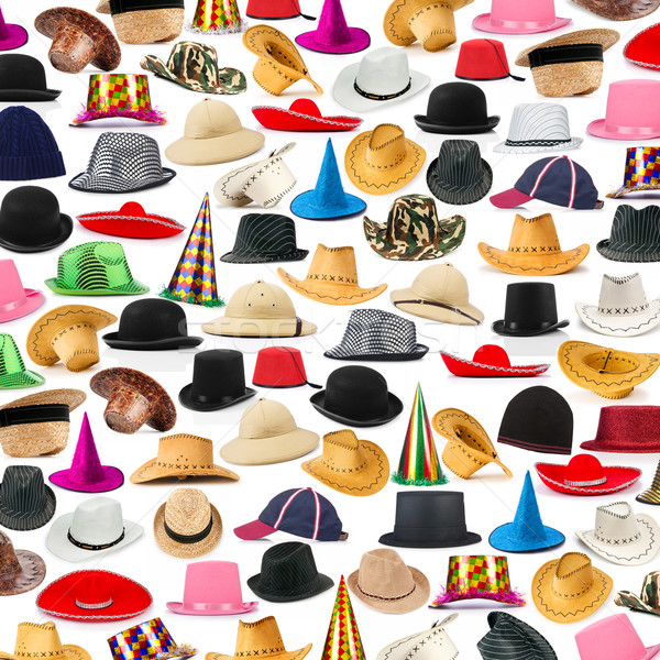Many hats arranged as background Stock photo © Elnur