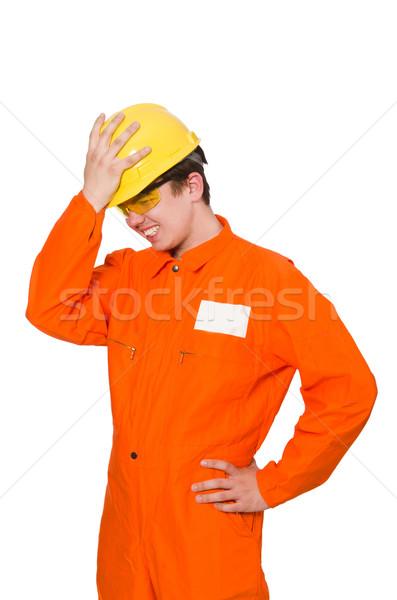 Uomo arancione isolato uomo bianco bianco business Foto d'archivio © Elnur