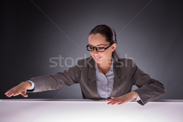 The businesswoman holding hands in business concept Stock photo © Elnur