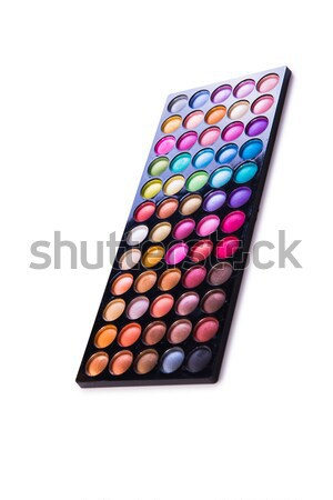 The set of colourful shadow for make-up isolated on white Stock photo © Elnur