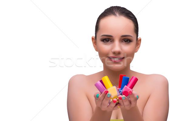 Nő kéz kezelés manikűr kezek modell Stock fotó © Elnur