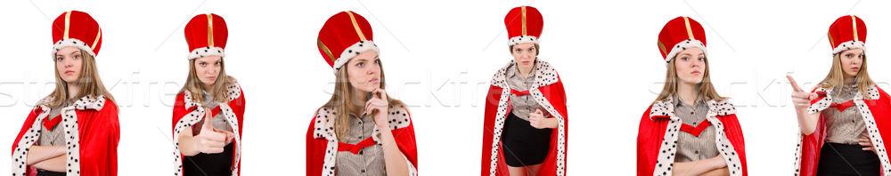 Zakenvrouw koningin geïsoleerd witte werk zakenman Stockfoto © Elnur