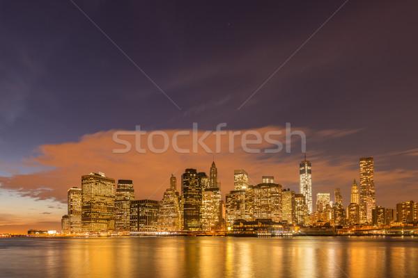 View abbassare Manhattan business mela notte Foto d'archivio © Elnur
