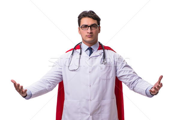 Super hero doctor isolated on white Stock photo © Elnur