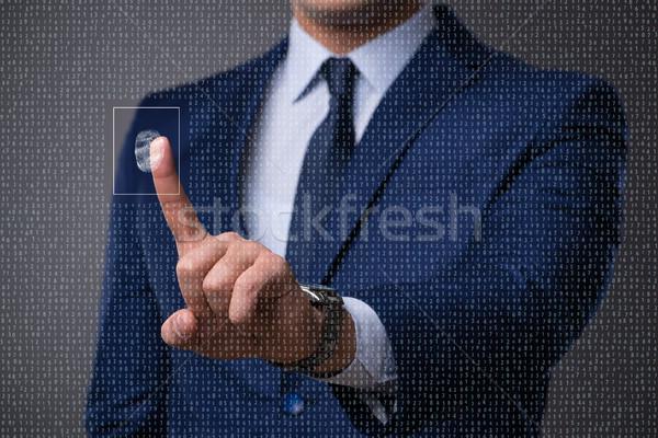 Biometric identification concept with fingerprints Stock photo © Elnur