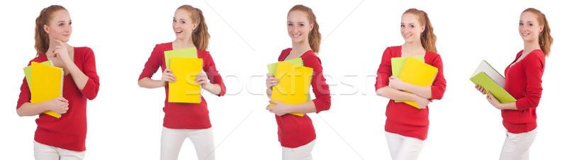 молодые студент книгах белый женщину девушки Сток-фото © Elnur