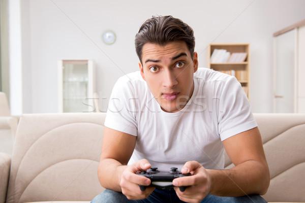 Man addicted to computer games Stock photo © Elnur