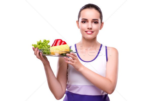 Woman in healthy eating concept Stock photo © Elnur