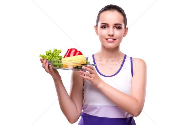 女性 健康的な食事 少女 幸せ 健康 美 ストックフォト © Elnur