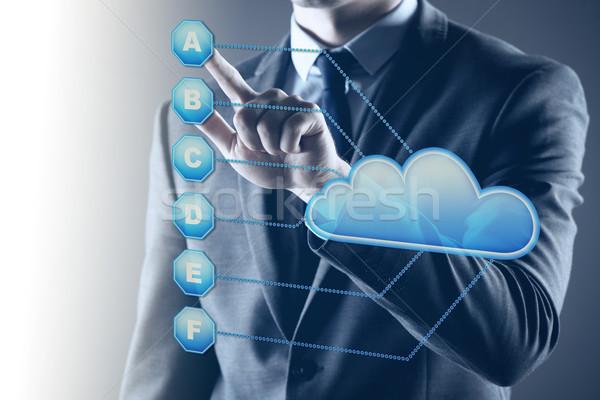 Empresario Internet portátil servidor fondo Foto stock © Elnur