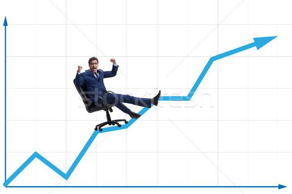 бизнесмен экономический роста бизнеса человека Бар Сток-фото © Elnur