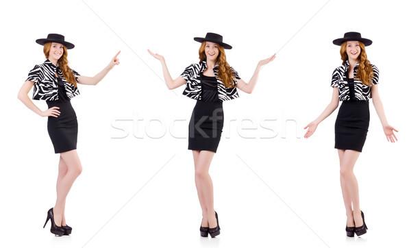 Moda donna nero vestiti Hat Foto d'archivio © Elnur