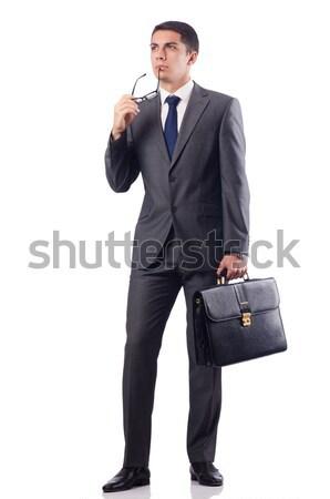 Businessman with gun isolated on white Stock photo © Elnur