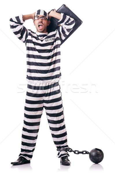 Elítélt bűnöző csíkos egyenruha üzlet törvény Stock fotó © Elnur