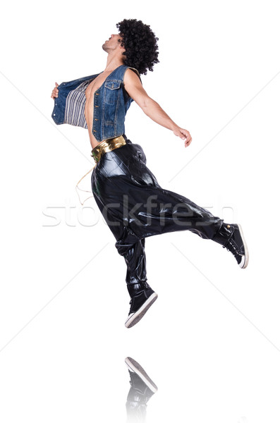 Rap dancer in wide pants on white Stock photo © Elnur