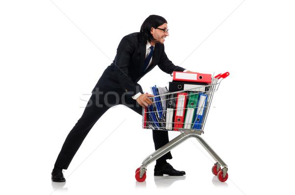 человека бизнеса изолированный белый Сток-фото © Elnur