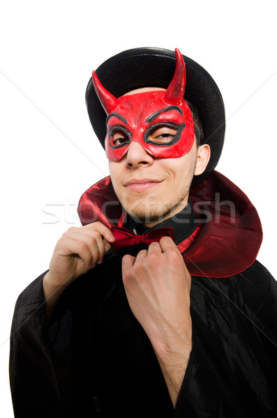 Funny devil isolated on the white background Stock photo © Elnur