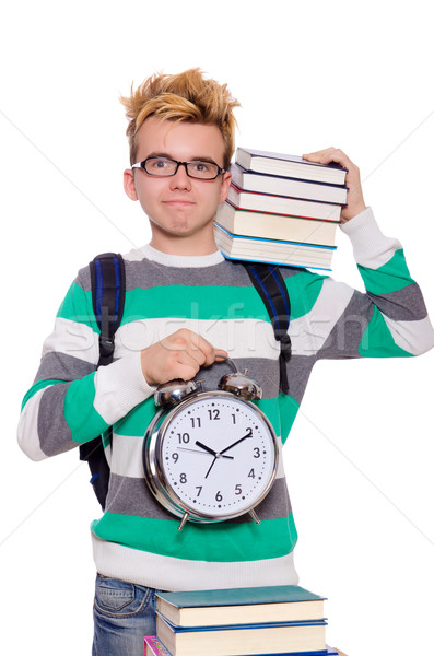 Student missing his deadlines isolated on white Stock photo © Elnur