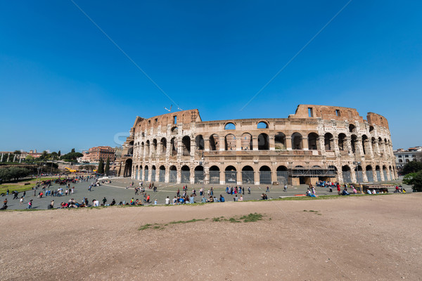 Famous colosseum on bright summer day Stock photo © Elnur