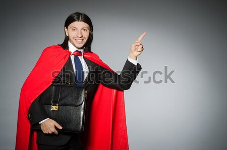 Superman concept with man in red cover Stock photo © Elnur