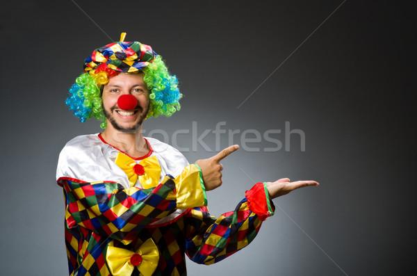 Vicces bohóc színes jelmez mosoly boldog Stock fotó © Elnur