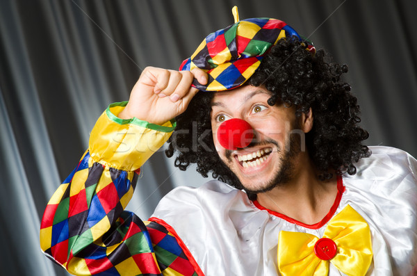 Funny clown in humorous concept against curtain Stock photo © Elnur