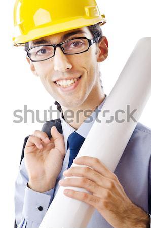 Marynarz palenia rury odizolowany uśmiech człowiek Zdjęcia stock © Elnur