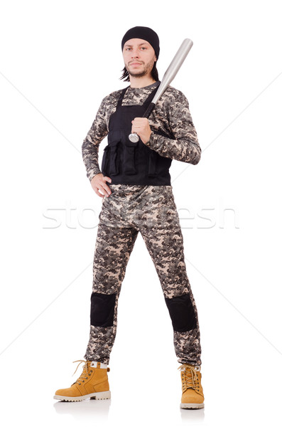 Young man in military uniform isolated on white Stock photo © Elnur